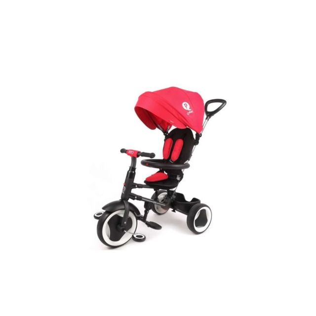 Ociotrends Qplay Tricycle Evolutif Rito - Pliage compacte - Rouge