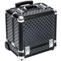 Helloshop26 - Malette trolley valise esthétique coiffure maquillage pro noir 2008056