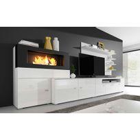 comfort home innovation ensemble de salon avec chemine olympo - Meuble Tv Design
