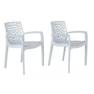 Marque generique lot de 2 fauteuils de jardin empilables for Chaise diademe