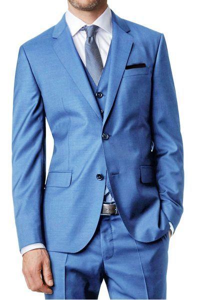 Kebello Costume 3 Pièces Bleu Ciel Santoni Pas Cher