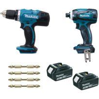 Makita - Ensemble de 2 machines kit d'accessoires, DDF453 + DTD146 DLX2022SJ3