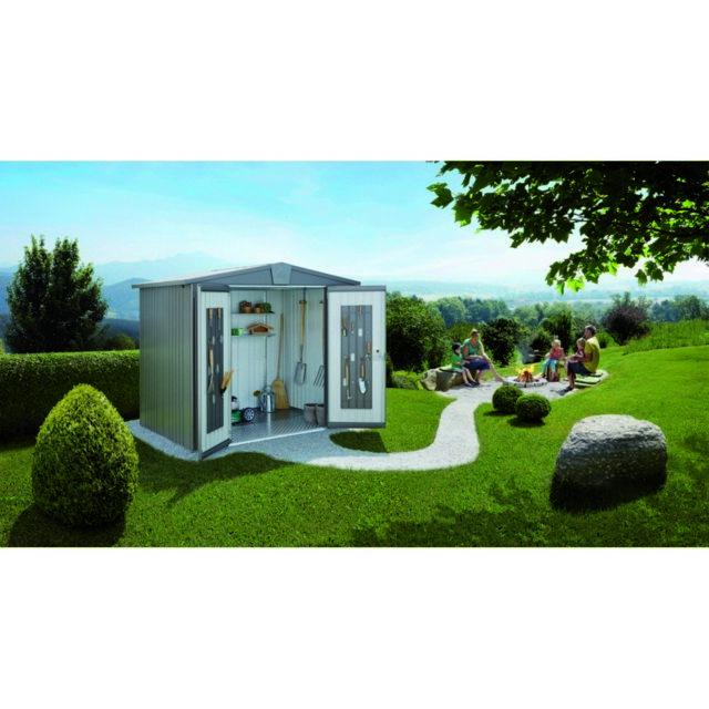 3812195471461 Marque Distributeur - Abri de jardin en métal Biohort Europa Taille 4 Gris  Quartz