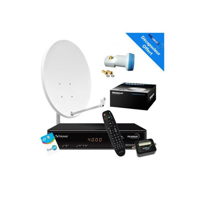 hdsat kit parabole 65 cm r cepteur satellite strong. Black Bedroom Furniture Sets. Home Design Ideas