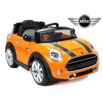 Voiture électrique enfant 12V cooper S Orange - avec radio Fm