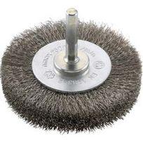 Forum - Brosse circulaire pour outils, fil d'acier inoxydable, ondulé, Ø de la brosse : 60 mm, Epaisseur du fil 0,20 mm, Larg. : de travail 18 mm