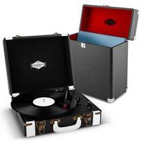 AUNA - Jerry Lee Record Collector Set Tourne-disque rétro Valise pour vinyles - no