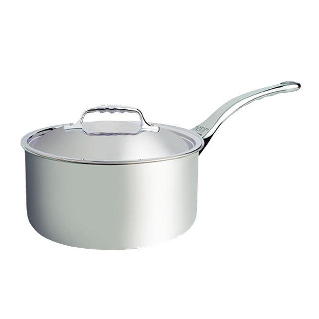 DE BUYER casserole inox 16cm avec couvercle - 3746.16