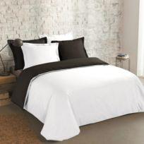 housse couette noir blanc achat housse couette noir blanc pas cher soldes rueducommerce. Black Bedroom Furniture Sets. Home Design Ideas