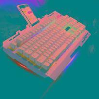16ca6ce55f718b Clavier Qwerty or Zgb G700 104 Touches Usb Filaire Mécanique Sentir Rgb  Rétro-Éclairage Métal