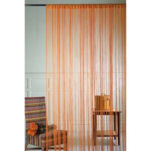 rideau avec haut passe tringle orange 90x240cm nc pas. Black Bedroom Furniture Sets. Home Design Ideas