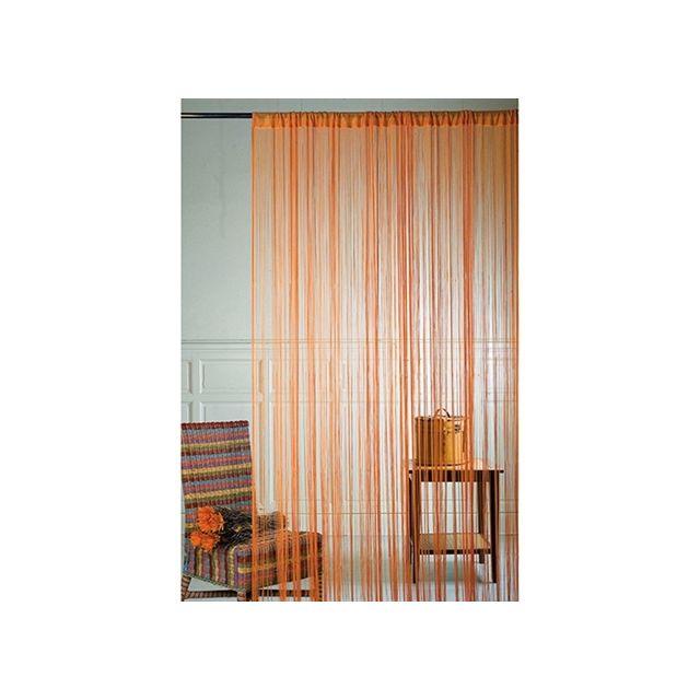 Rideau Avec Haut Passe Tringle Orange 90x240cm Pas Cher Achat
