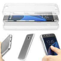 Cabling - Coque Housse Etui de protection en Silicone Intégrale Samsung Galaxy S7 - Transparent - Protection Avant + Arrière