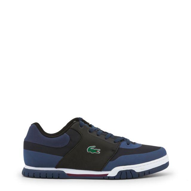 90a8c74932 Buzzao - Baskets Lacoste homme noir et bleu - pas cher Achat / Vente Baskets  homme - RueDuCommerce