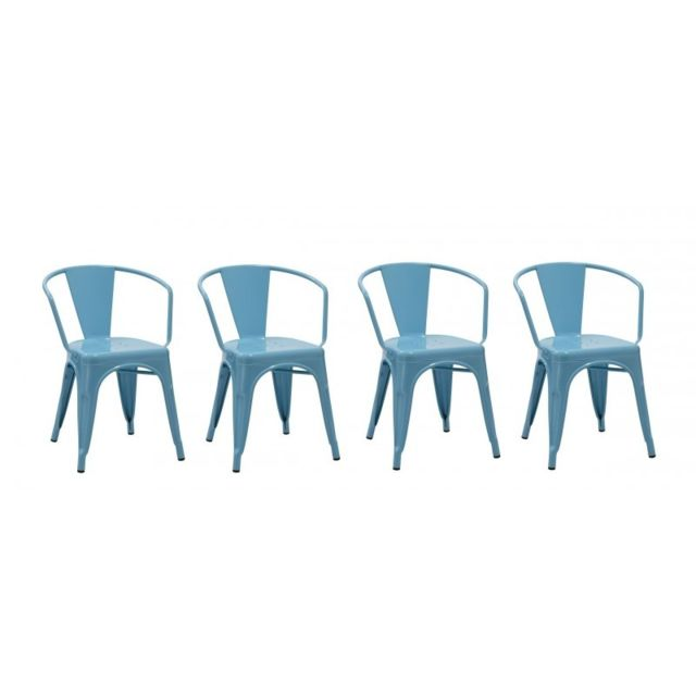 Decoshop26 Set De 4 Chaises De Salle A Manger Style Industriel