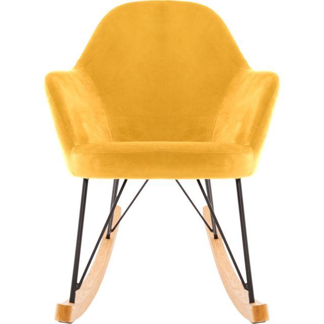 Atmosphera, Createur D'INTERIEUR Rocking chair en velours