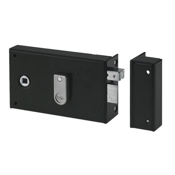 yale serrure applique monopoint pour porte ouverture. Black Bedroom Furniture Sets. Home Design Ideas