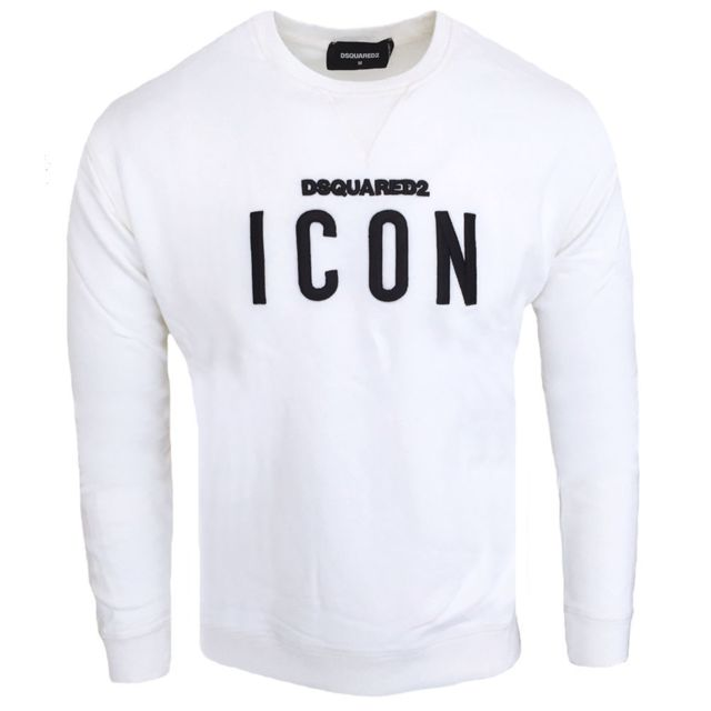 fb4d687de84 Dsquared2 - Pull Dsquared Icon homme Pull Ds74 blanc - pas cher ...