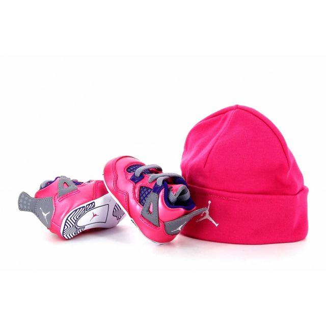 revendeur 762b7 6c425 Nike - Pack bonnet + basket Air Jordan 4 Retro Bébé TD ...