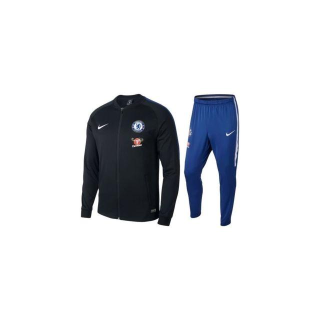 Nike - Survetement News Fc Chelsea Noir BLEU Adulte 2018 Maillot Fc ... db08981e31d2