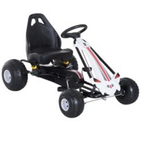 HOMCOM - Vélo et véhicule pour enfants kart à pédales siège réglable frein  manuel roues AR 114cf3845f2