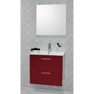 caisson de meuble de salle de bain modulable malea 60cm rouge spot nc pas cher achat vente. Black Bedroom Furniture Sets. Home Design Ideas