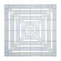 Galedo - Caillebotis plastique - Blanc translucide 56 x 56 cm