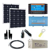 Myshop-solaire - Kit solaire 160w autonome 12v + convertisseur 230v/375va