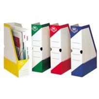 Fast - boites à pan coupé en carton, dos 8 cm, rouge - carton de 25