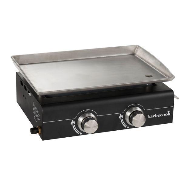 barbecook plancha 2 feux plaque inox 5 kw 2237420000 pas cher achat vente plancha. Black Bedroom Furniture Sets. Home Design Ideas