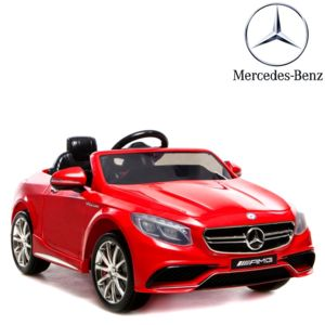 mercedes voiture lectrique 12v enfant s63 luxe rouge pneu nouvelle technologie pas cher. Black Bedroom Furniture Sets. Home Design Ideas