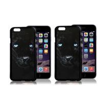Platyne - Coque effet 3D pour iPhone 6+ / 6+s en Pvc - Panthere noire