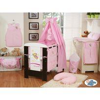 Autre - Lit et Parure de lit bébé bonne nuit rose ciel de lit coton 120 60
