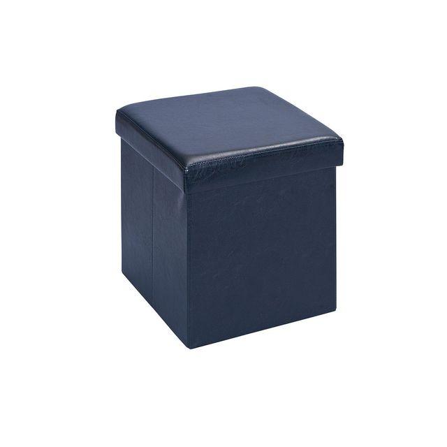 Altobuy - Warren - Pouf Coffre Pliant Noir - pas cher Achat   Vente Poufs -  RueDuCommerce 4c10fca80b39