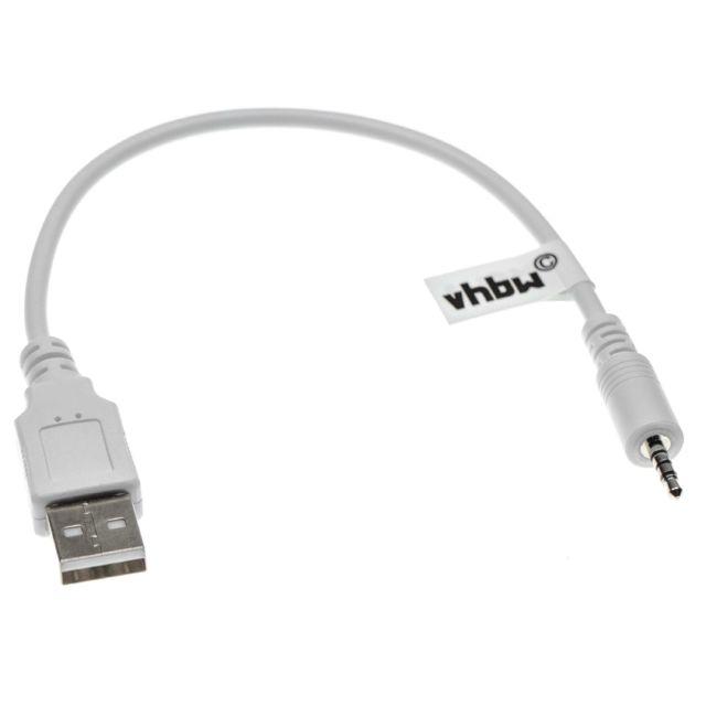 Vhbw Câble de chargement Usb A à jack Câble auxiliaire