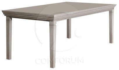 Comforium Table fixe classique 180 cm en bois massif coloris Sahara