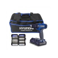 Pack Perceuse 18V + 2 Batteries + Coffret 37 Embouts + Sac Hpvd185-37A