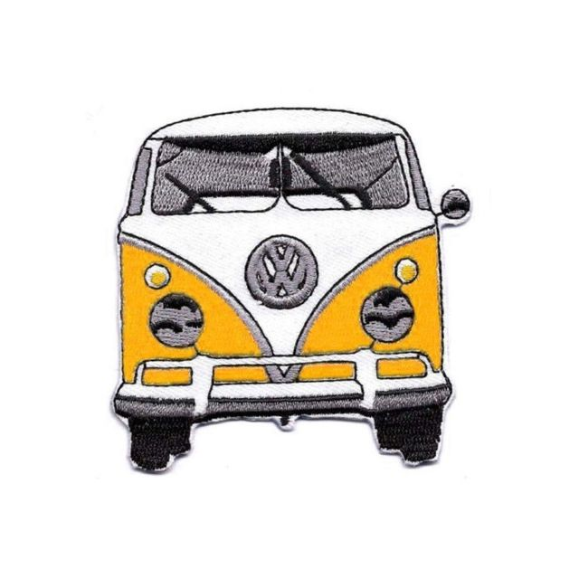 Universel - Patch Vw combi jaune ecusson thermocollant bully type 2 ... 7603acb3b5f