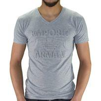 Armani - Emporio - Tshirt Manches Courtes - Homme - Ea 01 - Gris Chiné