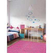 PAPILIO - Tapis KILIM PEACE AND LOVE Tapis Enfants par rose 120 x 170 cm