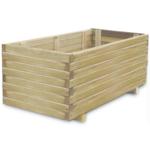 Rocambolesk - Superbe Jardinière en bois rectangulaire 100 x 50 x 40 cm Neuf