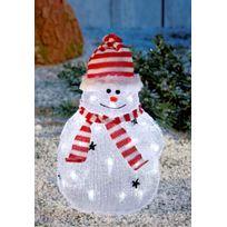 No Name - Superbe décoration de Noël ! - Bonhomme de neige - Lumineux acrylique - 32 Led blanches - Intérieur et extérieur