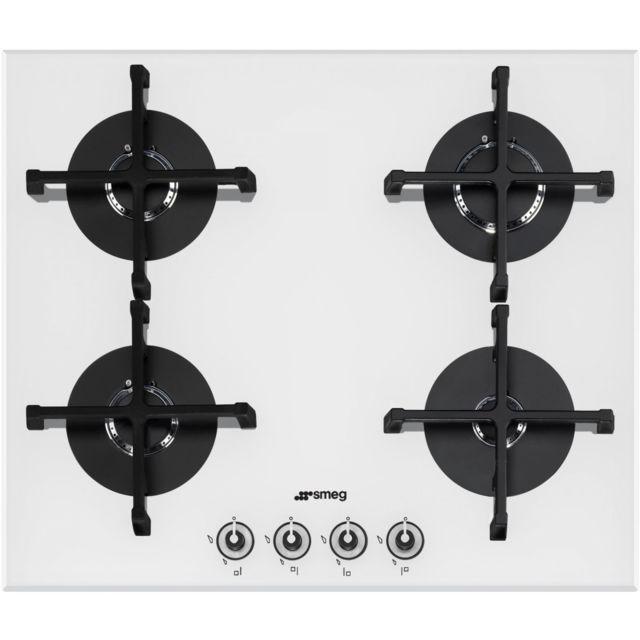 smeg elite pv164b 1 table de cuisson au gaz 4 plaques de cuisson achat plaque de cuisson gaz. Black Bedroom Furniture Sets. Home Design Ideas
