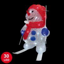 - Bonhomme de neige lumineux 30cm