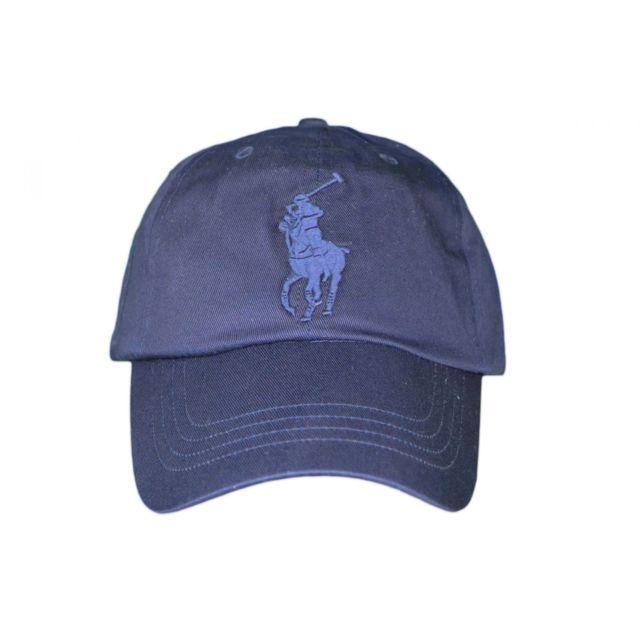 8f8443b2716d Ralph Lauren - Casquette Big Poney bleu marine pour homme Taille unique -  pas cher Achat   Vente Casquettes, bonnets, chapeaux - RueDuCommerce