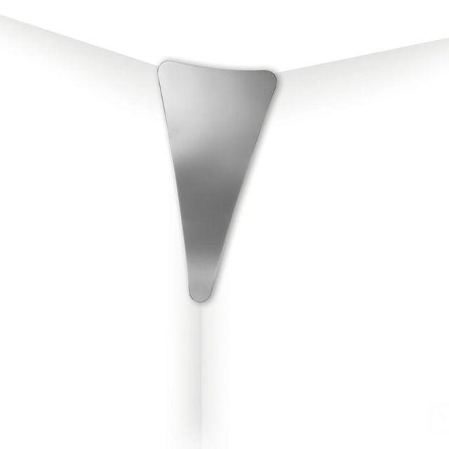 Slamp Punctum-applique d'angle Led Miroir H65cm Argenté - designé par Nigel Coates