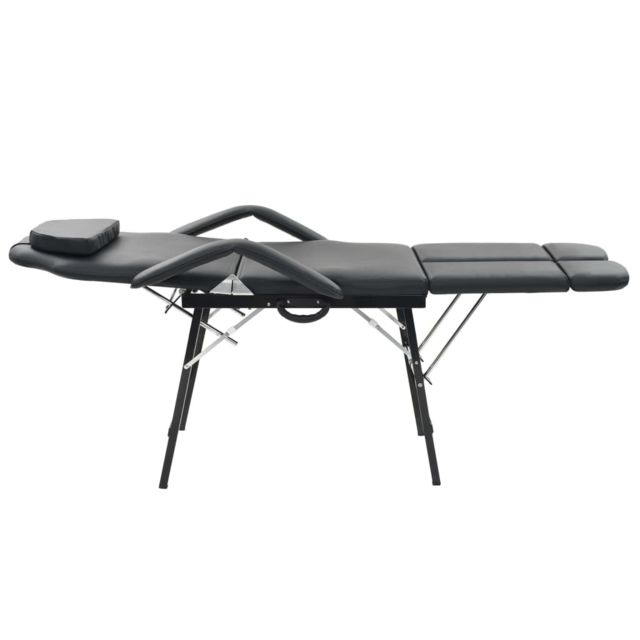 Icaverne - Fauteuils de massage edition Fauteuil de massage pour traitement facial Simili-cuir Noir
