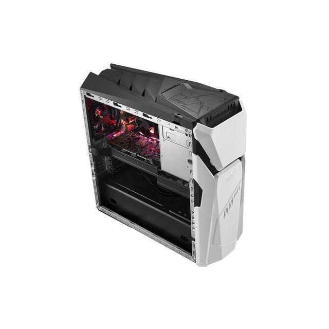 ASUS ROG Strix GD30CI Processeur Intel® Core™ i7-7700 (3,6 GHz / 4,2 GHz Turbo) - Disque dur 1 To + SSD 512 Go - RAM 16 Go - NVIDIA GeForce GTX 1080 8 Go - Ports HDMI - DVD - Réseau filaire Ethernet - Réseau sans fil WiFi - Bluetoo