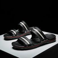 9b5ba90ea9d83 Wewoo - Chaussons Mode d été correspondant à des pantoufles en cuir légères  confortables Beach