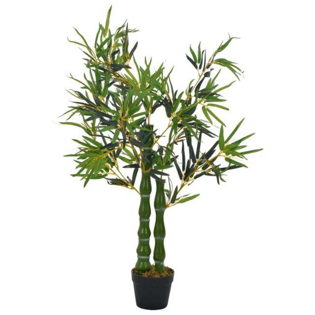 Stylé Décorations gamme Sri Jayawardenapura Plante artificielle avec pot Bambou Vert 110 cm